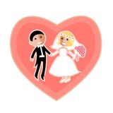 Ícone liso moderno do casamento Imagens de Stock Royalty Free