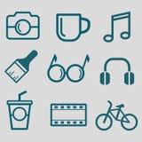 Ícone liso para o estilo de vida do moderno Imagens de Stock Royalty Free