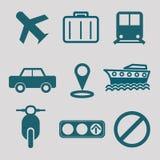 Ícone liso para o transporte Imagens de Stock