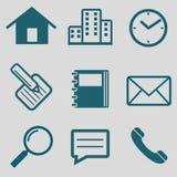 Ícone liso para uma comunicação Foto de Stock Royalty Free