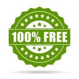 ícone 100 livre Fotos de Stock Royalty Free