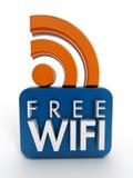 Ícone livre de WiFi Imagem de Stock Royalty Free