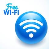Ícone livre do wifi, sumários Imagens de Stock