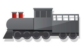 Ícone locomotivo preto, estilo dos desenhos animados ilustração stock