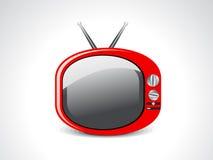 Ícone lustroso abstrato da televisão Foto de Stock