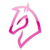 Ícone lustroso cor-de-rosa do cavalo ilustração royalty free