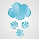 Ícone lustroso da neve ilustração stock