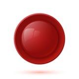 Ícone lustroso vermelho do botão isolado no branco ilustração royalty free