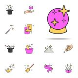 Ícone mágico da bola grupo universal dos ícones mágicos para a Web e o móbil ilustração stock