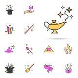 Ícone mágico da lâmpada grupo universal dos ícones mágicos para a Web e o móbil ilustração stock