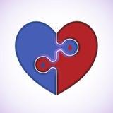 Ícone médico do coração Imagens de Stock Royalty Free