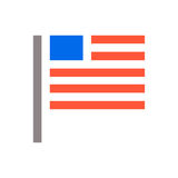 Ícone mínimo da bandeira dos EUA Os estados de Unaited de América embandeiram o projeto mínimo do ícone Ilustração do vetor ilustração do vetor