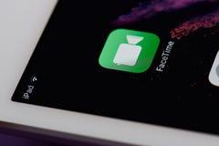 Ícone móvel de Facetime app Foto de Stock