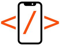 Ícone móvel do desenvolvimento do app Imagem de Stock Royalty Free