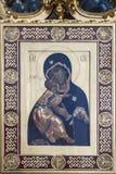 Ícone Mary e bebê Jesus fotografia de stock royalty free