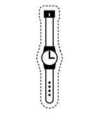ícone masculino do relógio da mão ilustração do vetor