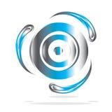 Ícone metálico Imagens de Stock