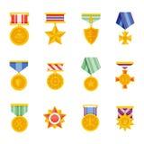 Ícone militar do vetor das medalhas ilustração royalty free