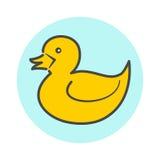 Ícone minimalistic amarelo do pato ilustração royalty free