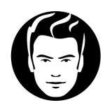 Ícone modelo da cara do cabelo do homem Foto de Stock Royalty Free