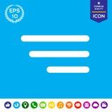 Ícone moderno do menu para apps e Web site móveis Foto de Stock Royalty Free