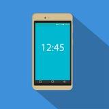 Ícone moderno do smartphone Ilustração do vetor do dispositivo móvel Projeto liso do estilo com sombra longa Imagens de Stock Royalty Free