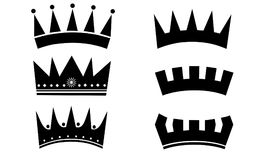 Ícone moderno simples da coroa Fotos de Stock Royalty Free