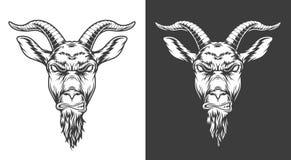 Ícone monocromático da cabra ilustração royalty free