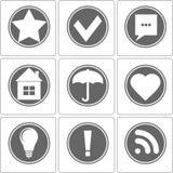 Ícone monocromático simples, vetor Imagem de Stock