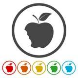 Ícone mordido da maçã Um de ícones da Web do grupo ilustração royalty free