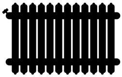 Ícone morno do radiador da casa ilustração stock