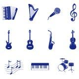 Ícone musical Fotos de Stock Royalty Free