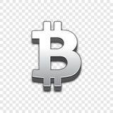 Ícone na moda do vetor do estilo 3d de Bitcoin Fotografia de Stock Royalty Free