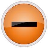 ícone negativo Fotografia de Stock