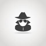 Ícone anônimo do espião ilustração royalty free
