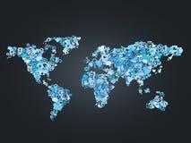 Ícone no mapa do formulário Fotos de Stock