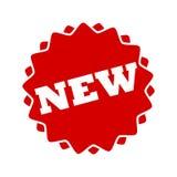 Ícone novo vermelho do botão Foto de Stock