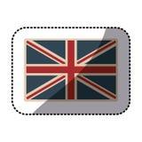 ícone opaco britânico clássico de Reino Unido da bandeira da etiqueta ilustração royalty free