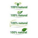 Ícone orgânico amigável Logo Collection verde ajustado da Web do produto natural de Eco Imagens de Stock Royalty Free