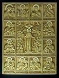 Ícone ortodoxo cinzelado da presa gigantesca Foto de Stock