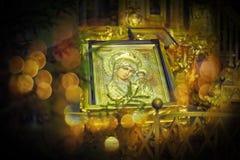 Ícone ortodoxo de Motrer Mary Fotos de Stock