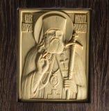 Ícone ortodoxo do marfim gigantesco handcrafted Fotos de Stock Royalty Free