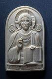 Ícone ortodoxo do marfim gigantesco handcrafted Imagem de Stock Royalty Free