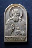 Ícone ortodoxo do marfim gigantesco handcrafted Fotografia de Stock Royalty Free