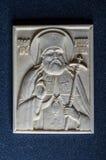 Ícone ortodoxo do marfim gigantesco handcrafted Imagens de Stock