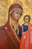 Ícone ortodoxo do russo antigo Fotografia de Stock Royalty Free