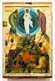 Ícone ortodoxo do russo antigo A transfiguração do deus Fotos de Stock