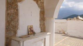 Ícone ortodoxo e cálice vídeos de arquivo