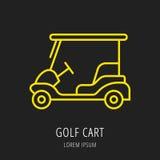 Ícone ou elemento do jogo de golfe Fotografia de Stock