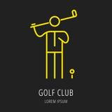 Ícone ou elemento do jogo de golfe Foto de Stock